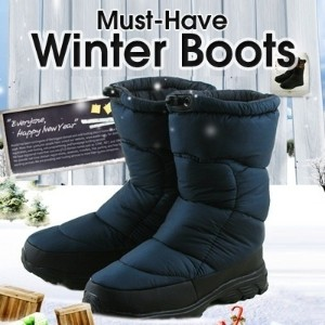 [2015.11.06 Full Stock Available]Men and Women Winter 100% Waterproof Winter Warm boots fur lined!...
