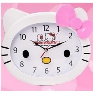 helloKitty clock bell mute creative cartoon Hello Kitty watches KT bedroom large living room clock