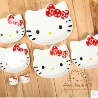 Genuine hello Kitty Kitty ceramic plates dishes seven sets of suits bone china tableware Kitty