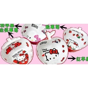 Japan Genuine Hello Kitty childrens fruit bowl soup bowl shape plastic melamine tableware
