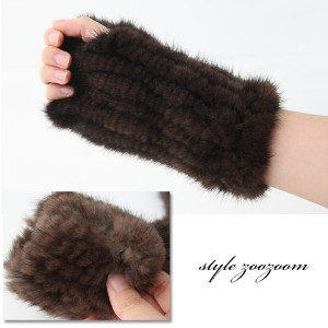 [zoozoom] Knitted mink Wristlet 2color / h217