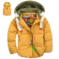 Winter Children Jackets Boys And Girls Down Coat 2-10 Years Kids Outerwear Coats Moveable-Sleeve...