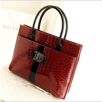 Hot Sale Women Handbag Luxury OL Lady Crocodile Pattern Hobo Tote Shoulder Bag Black Red WB271 free...