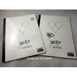 EXO-正規1集:XOXO Kiss version CD + YEARBOOK + ポスタ-(Option)+ 1 selected STICKER EXO-K / EXO-M /韓国語版