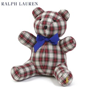 (BABY) POLO by Ralph Lauren Teddy Bear USラルフローレン ベイビー テディベア CREAM RED MULTI