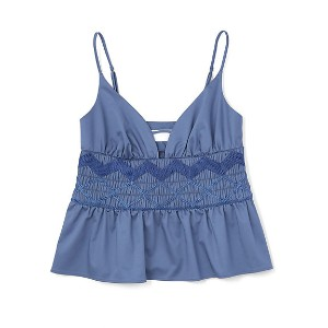 <mame(マメ)> Tribal Embroidery Camisole(MM17SSーSH086) ブルー レディースウエア~~その他トップス