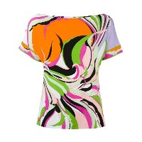 Emilio Pucci - rainbow printed T-shirt - women - スパンデックス/ビスコース - 38