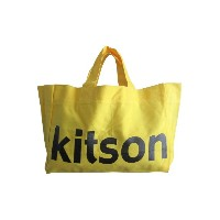 kitson キットソン エコバッグ コットン素材 2色(ブルー/イエロー)トートバッグ