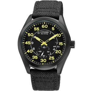 Citizen Men's BV1085-14E Eco-Drive Black Nylon Strap Watch【並行輸入】
