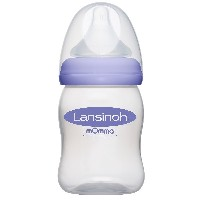 Lansinoh mOmma Bottle with NaturalWave Nipple, 5 Ounce 高品質 哺乳瓶 150ml