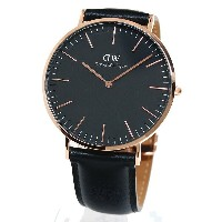 Daniel Wellington ダニエルウェリントン 腕時計 40MM 00100127DW Classic Black SHEFFIELD