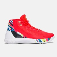 Under Armour Curry 3キッズ/レディース Rocket Red / Aluminum アンダーアーマー バッシュ カリー3 Stephen Curry ステフィン・カリー
