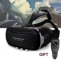 3D VRゴーグル VRヘッドセット 4.7-6インチ スマホ用 Bluetooth対応リモコン付 Vnice 3D VR Headset with Remote Controller for...