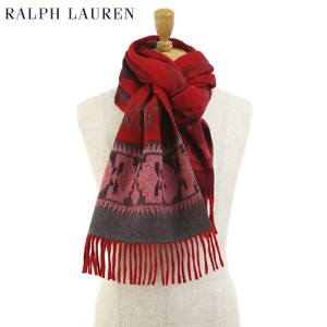 POLO by Ralph Lauren Navajo Wide Scarf ラルフローレン ネイティブ柄 大判 ウール スカーフ マフラー