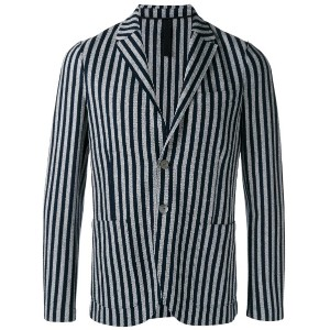 Harris Wharf London - striped blazer - men - コットン - 48