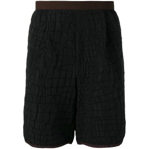 Kolor - crocodile embossed effect shorts - men - ポリエステル/レーヨン - 3