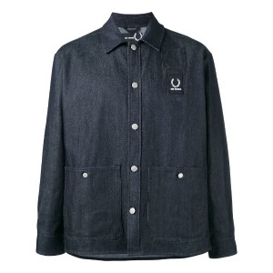 Raf Simons X Fred Perry - denim shirt jacket - men - コットン/ポリエステル - 42