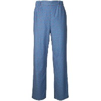 Muveil - tailored trousers - women - コットン/キュプロ - 38