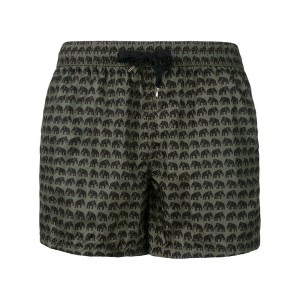 Nos Beachwear - elephants print swim shorts - men - ポリアミド - M