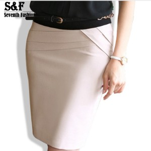 Autumn Winter Women Skirts Office Formal Pencil Skirts Casual Sexy Slim High Waist Knee-Length