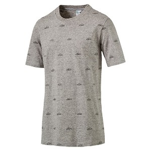 プーマ SUEDE EMBROIDERY TEE メンズ Light Gray Heather-AOP