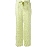 Etro - jacquard cropped trousers - women - シルク/ビスコース - 40