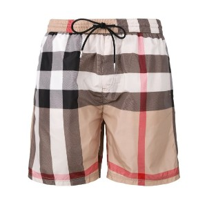 Burberry - housecheck print swim shorts - men - ポリエステル - L