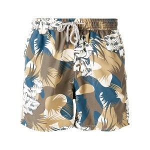 Etro - camouflage drawstring swim shorts - men - ナイロン - XL