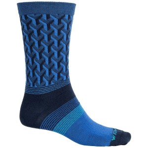ウィグワム Wigwam メンズ インナー ソックス【Eastside Socks - Merino Wool, Crew】Azure Blue