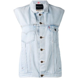 Erika Cavallini - denim gilet - women - コットン - ワンサイズ