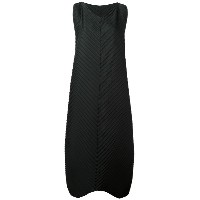 Issey Miyake - long pleated dress - women - ポリエステル/ポリウレタン - 3