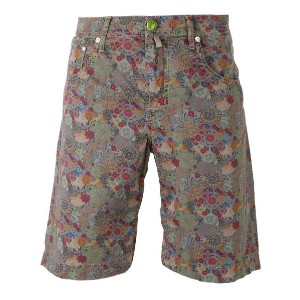 Jacob Cohen - floral denim shorts - men - コットン/スパンデックス - 36