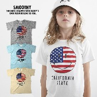 SMOOTHY / スムージー [17T-01] SMILE TEE キッズ 子供服 日本製 半袖Tシャツ[メール便発送]