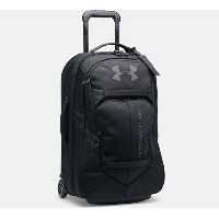 Under Armour Checked Rolling Travel Bag Black/Black アンダーアーマー キャリーバッグ