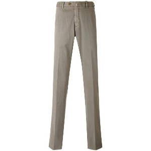 Loro Piana - straight pleated trousers - men - コットン/スパンデックス - 50
