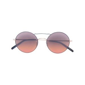 Oliver Peoples - 'Nickol' round frame sunglasses - women - 金属(めっき) - ワンサイズ