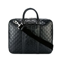 Gucci - Signature briefcase - men - レザー - ワンサイズ