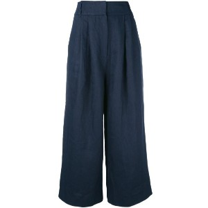 Tibi - cropped trousers - women - リネン - 8