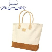 正規取扱店 HERITAGE LEATHER CO.(ヘリテージレザー) NO.8662 Suede Bottom Tote Bag (トートバッグ) Natural/Brown HL206
