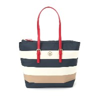 TOMMY HILFIGER (W)ストライプナイロントート トミーヒルフィガー【送料無料】