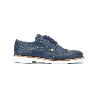 Cesare Paciotti Kids - Teen classic brogues - kids - レザー/ピッグレザー(豚革)/rubber - 37