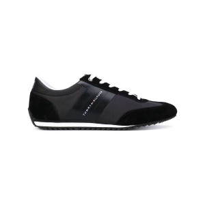 Tommy Hilfiger - lateral logo sneakers - men - コットン/スエード/ポリエステル/rubber - 44