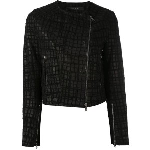 Federica Tosi - embroidered biker jacket - women - レザー - S