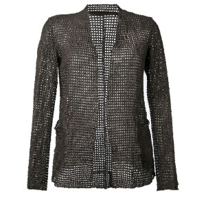 Salvatore Santoro - open-front jacket - women - レザー - 40