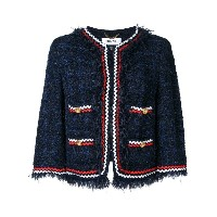Muveil - embroidered blazer - women - コットン/ナイロン - 38