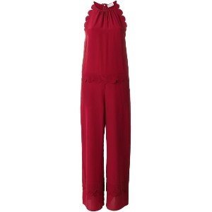 Red Valentino - scalloped detail jumpsuit - women - シルク - 40