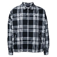 monkey time - checked shirt jacket - men - ポリエステル/ウール - XL