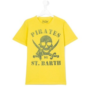 Mc2 Saint Barth Kids - teen pirates print Rock T-shirt - kids - コットン - 16 yrs