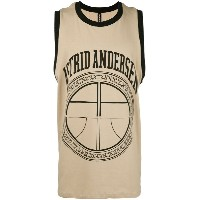 Astrid Andersen - logo print sleeveless T-shirt - men - コットン/スパンデックス - S