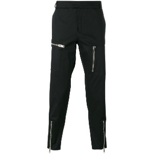 Les Hommes - multiple zips cropped trousers - men - コットン/スパンデックス - 52
